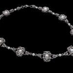 naszyjnik z perłami chainmaille