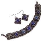 bransoletka i kolczyki z kryształkami
