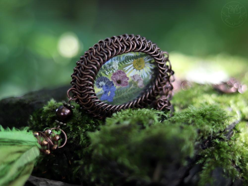 naszyjnik polne kwiaty