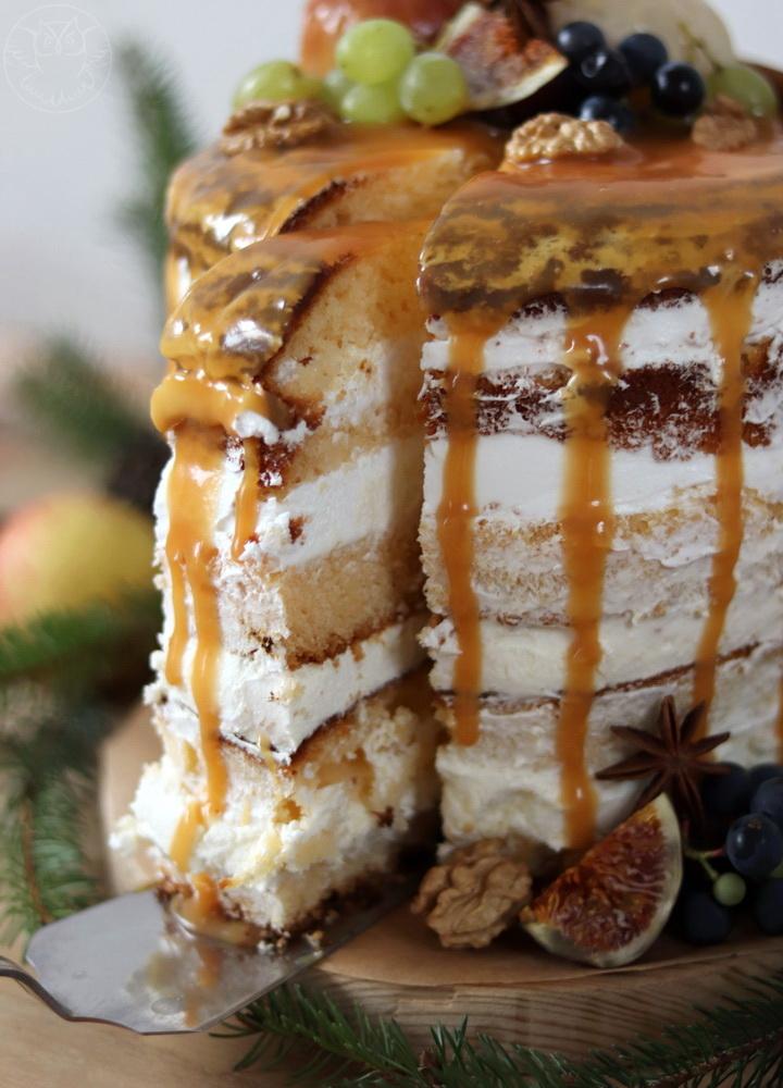 jesienny tort urodzinowy