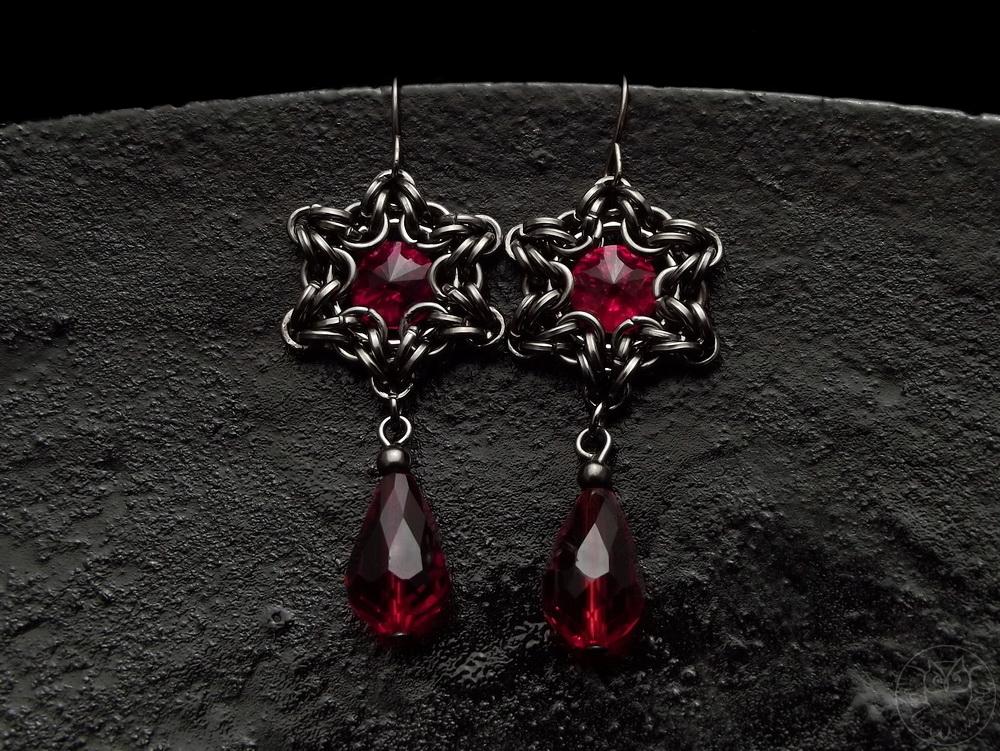 gotyckie kolczyki chainmaille