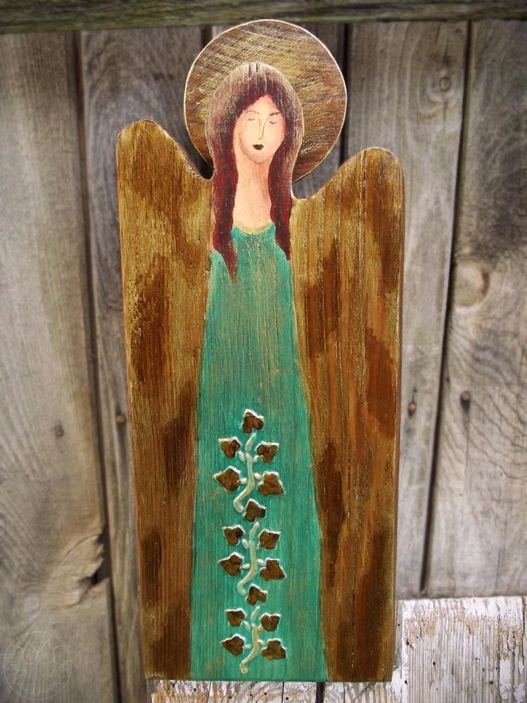 anioł w morskiej zieleni