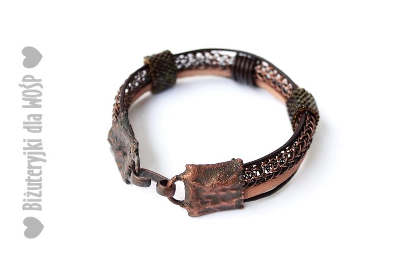bransoleta Viking w miedzi