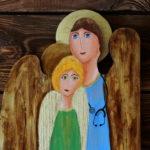 ręcznie malowany anioł dla lekarza