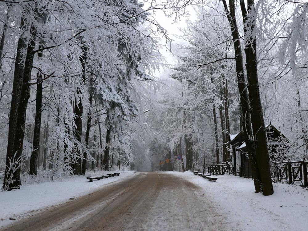 Święty Krzyż zimą