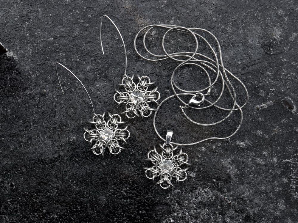 śnieżynki chainmaille