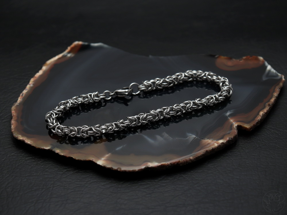 bransoletka byzantine ze stali