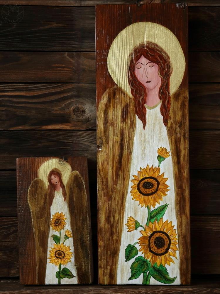 anioły ze słonecznikami