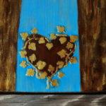 anioł z drewna ręcznie malowany