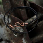bransoletka z rzemienia i miedzi