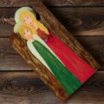 drewniany anioł dla lekarki