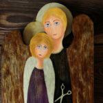 anioł dla fryzjera ze starej deski