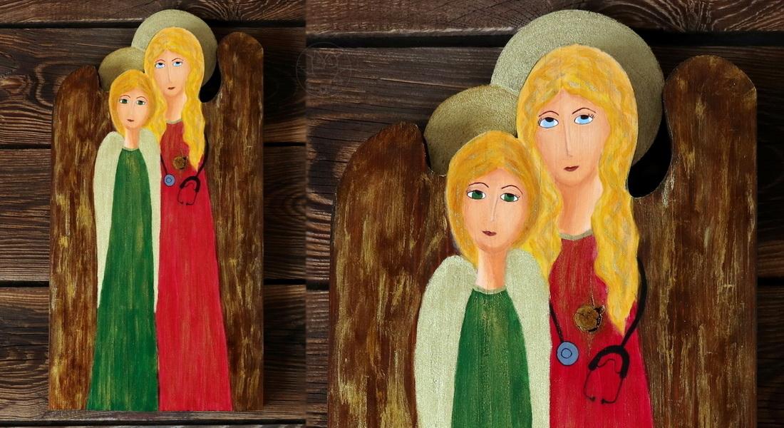 podwójny anioł dla lekarki