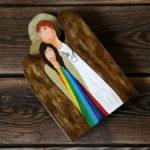 drewniany anioł lekarski