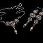 elegancki komplet biżuterii Trinity