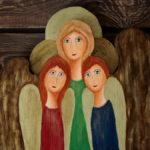drewniany anioł przyjaźni