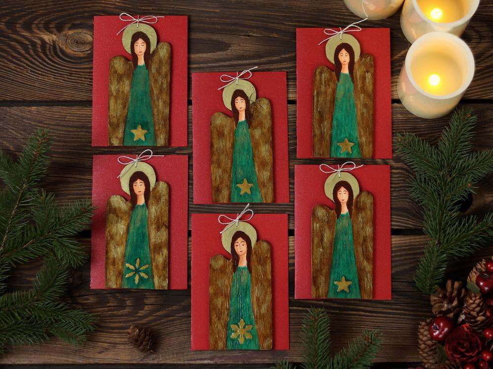 kartki z aniołami na Boże Narodzenie