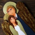 ślubny anioł ręcznie malowany