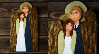 ślubny anioł