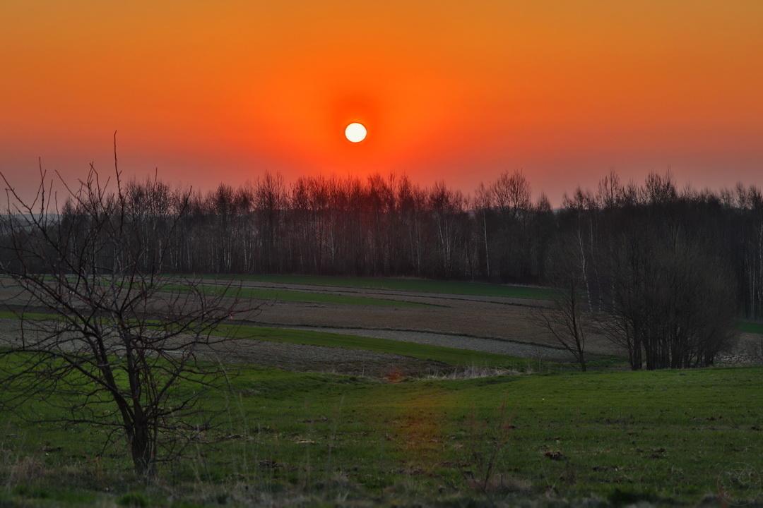 wiosenny wschód słońca