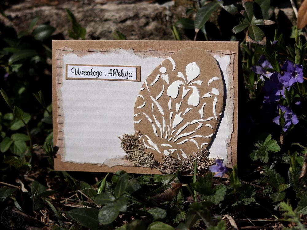 ręcznie robiona kartka na Wielkanoc