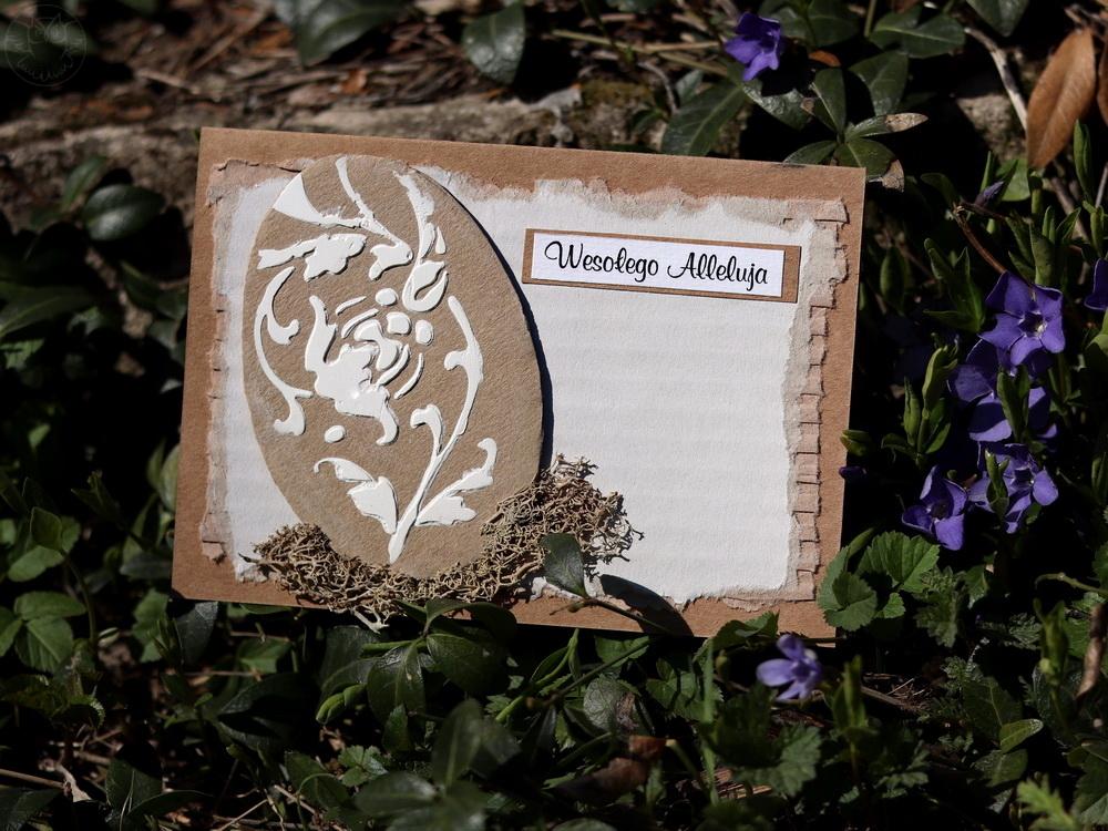 kartka na Wielkanoc ręcznie robiona