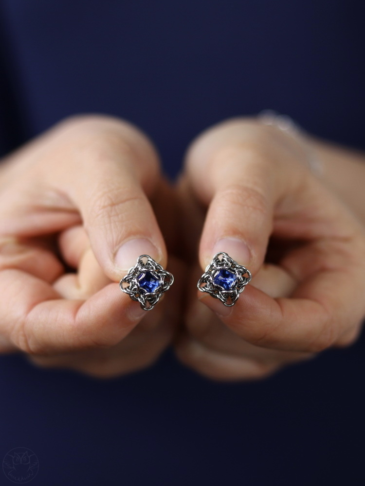 kolczyki sztyfty z kryształkami