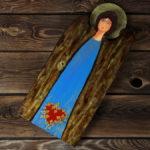 drewniany anioł z sercem