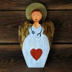 personalizowany aniołek dla pani doktor