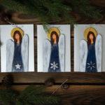 ręcznie robione kartki z aniołkami