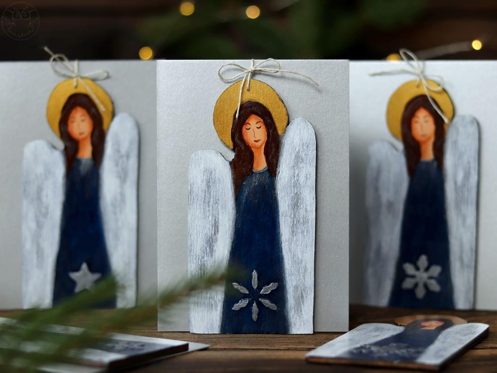 kartki z aniołkami na Boże Narodzenie
