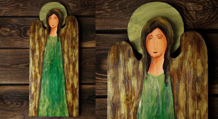 anioł w zieleni