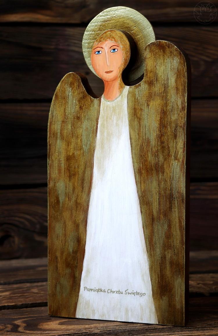 anioł pamiątka z okazji chrztu