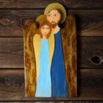 drewniany anioł dla zakochanych